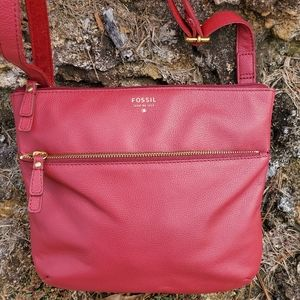 Fossil Red Crossbody bag  excellent condition